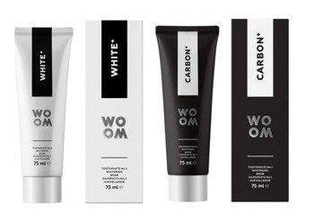 WOOM Carbon + White zestaw past wybielających dla dwojga