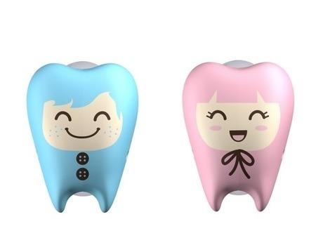 FLIPPER Toothfairy FG - 2-pack uchwytów do szczoteczki do zębów, wzór Frackie & Gigi
