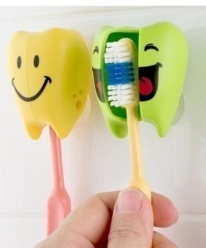 FLIPPER Toothfairy LO - 2-pack uchwytów do szczoteczki do zębów, wzór Lime & Orange