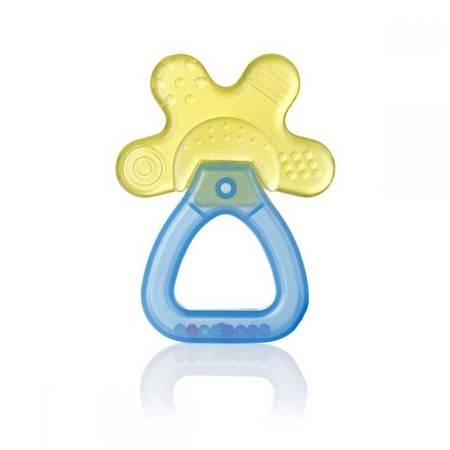 Brush-Baby Cool&Calm YELLOW gryzako-grzechotka dla dzieci od 4 miesiaca życia,
