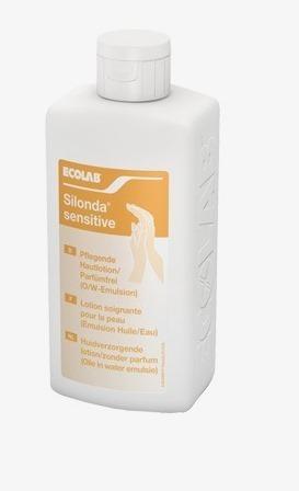 ECOLAB Silonda Sensitive  - krem pielęgnacyjny bez substancji zapachowych z woskiem pszczelim do skóry, 500 ml