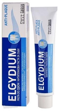 ELGYDIUM Anti-plaque- antybakteryjna pasta do mycia zębów przeciw płytce nazębnej, 75 ml