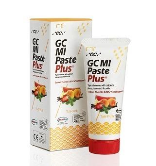 GC MI Paste - płynne szkliwo z fluorem, odżywka do intensywnej odbudowy szkliwa, smak owoce tutti-frutti