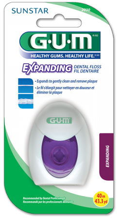 GUM SUNSTAR Expanding Floss - nić dentystyczna pęczniejąca, 30 m