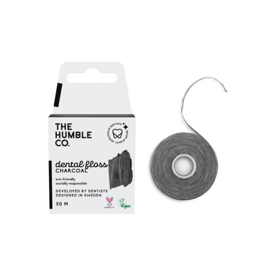 Humble Dental Floss - czarna nić dentystyczna 50m o smaku mięty