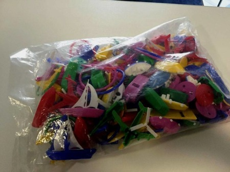 MIRATOI Nr. 1 -zabawki różne, nagroda dla Dzielnego Pacjenta, set 150 sztuk