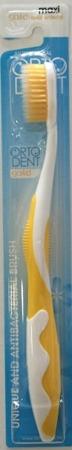 ORTO DENT Maxi Gold (Ż) - antybaketeryjna szczoteczka do mycia zębów z drobinkami złota, żółta