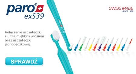 PARO  szczoteczka paro® exS39 - szczoteczka do mycia zębów 2w1- z ultra miękkim włosiem  dla osób z  wrażliwymi dziąsłami, krwawieniami i paradontozą. Kombinacja szczoteczki manualnej i jednopęczkowej.