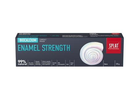 SPLAT BIO Professional BIOCALCIUM  ENAMEL 125 gr - pasta do wzmocnienia i odbudowy szkliwa zębów, duża tuba