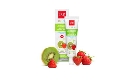 SPLAT Juicy - intensywnie wzmacniająca pasta do zębów z  nanohydroksyapatytem wapnia- 35 ml - truskawka i kiwi