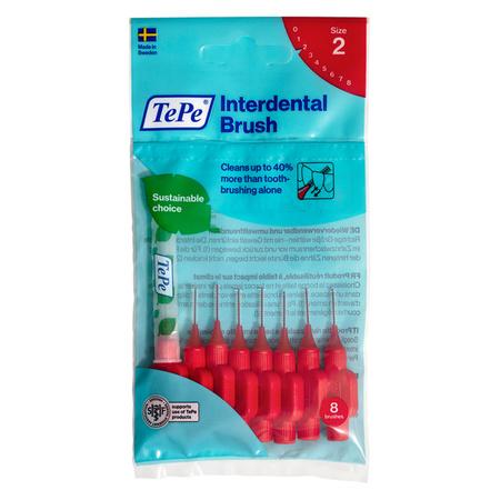 TePe ORGINAL (0.5 mm)  szczoteczka międzyzębowa - rozmiar 2, czerwona