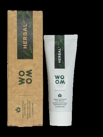 WOOM  HERBAL +  naturalna pasta do pielęgnacji problematycznych dziąseł, 75ml