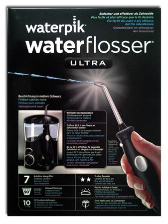 Waterpik WP-112 E2 Ultra BLACK SATIN + 7 końcówek (PL) - irygator dentystyczny