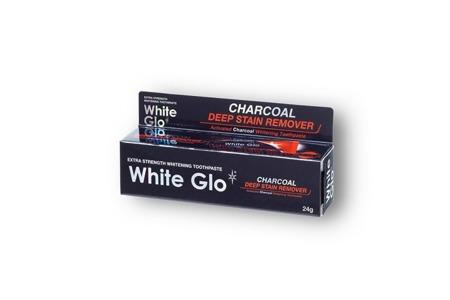 White Glo DEEP STAIN CHARCOAL czarna pasta węglowa do wybielania zębów, 24 g